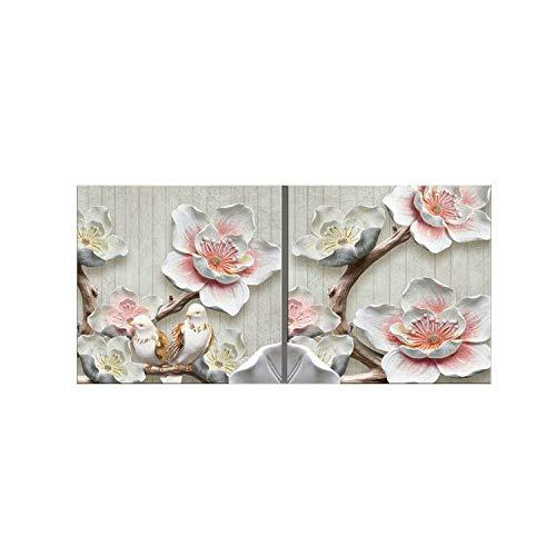 ohne Rahmen, Kunstdruck, Wandbild für Wohnzimmer, modernes Gemälde, Blumen Bilder für Küche, Canvas, W Style, 60x60x2 NO Framewor ()