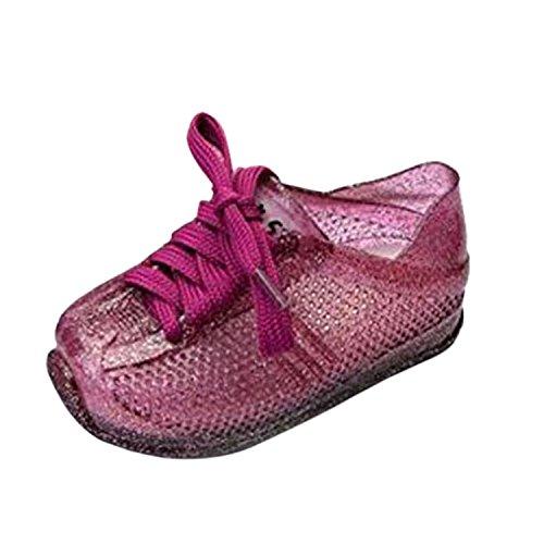 Meijunter Enfants Bébé Filles Garçons Loisir Antidérapant Souples Gelée bander Chaussures Plates Décontractées Bambin Plage Sandals Pluie Bottes Violet