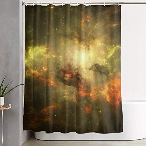 6fd1f5729d23 Rideau de Bain, Space Brilliant Galaxy Shower Curtain Liner 70x70 inches  Waterproof Fabric Shower Curtains with Hooks Bathroom Sets for Home Hotel  ...