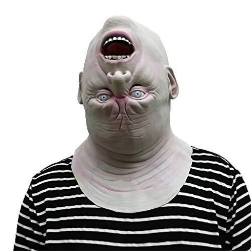 GXDHOME Latex Kopf Masken, Horror invertiert Blutige Zombie Walking Dead Face Geist gruselig Halloween Kostüm Kostüm ()