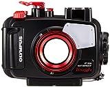 Olympus PT-058 Unterwassergehäuse (geeignet für TG-5 Digitalkamera) schwarz/rot