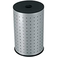 Hailo 0744-121 - Cubo para la ropa sucia, 43 L, color plateado y negro
