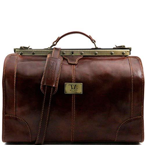 Tuscany Leather Madrid Sac de voyage en cuir - Petit modèle Marron