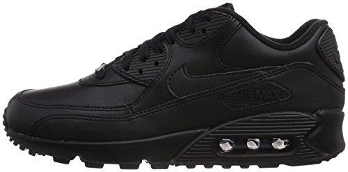Nike Air Max 90 Leather Scarpe da ginnastica, Uomo, Nero, 44
