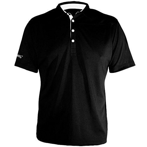 Stromberg Golf 2017 Cool Dry Tech Performance Mens Fitted Golf Polo Shirt Black Small Stromberg Golf