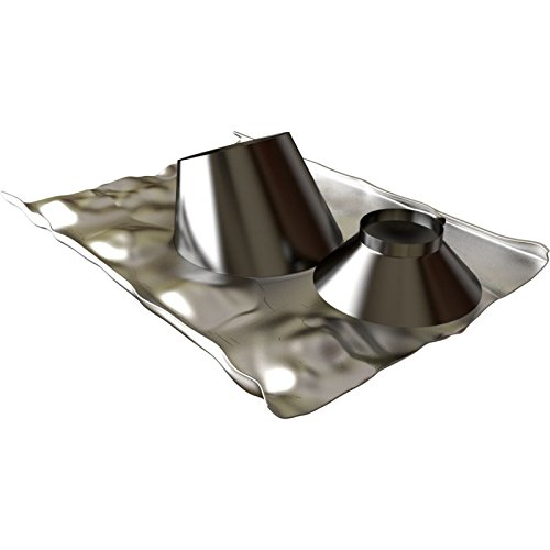 Solin 30 à 45 INOX + collet diamètre 80/125mm pour BIOTEN LAQUE NOIR RAL 9005 Réf 471585