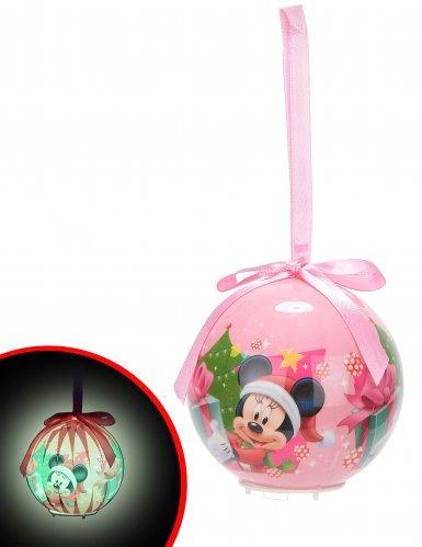 Generique - Boule Lumineuse Minnie 7,5 cm Noël