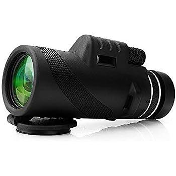Monoculaire 40x60 Télescope Étanche Jumelles Vue Zoomable Optique Vision Jour & Nuit, Anti-Brouillard Idéal pour l'Observation des Oiseaux, Concerts, Sports, Randonnée, Camping et Voyages, 500m/9500m
