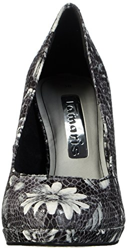 Tamaris Damen 22446 Pumps Mehrfarbig (BLK FLOWER COM 045)