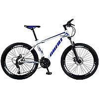 Kashyk Vélo VTT Fully, Carbon Steel MTB, convient à partir de 160 à 185 cm, frein à disque avant et arrière, 21 vitesses, suspension complète, homme, ABS, jaune, taille unique