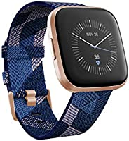 Fitbit FB507RGNV Versa 2 SE (NFC) Smartwatch - Navy & Pink Woven Band/Copper Rose Aluminium