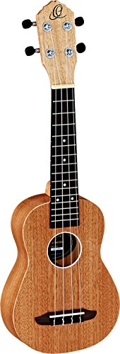Ortega Guitars RFU10S Sopran Ukulele Friends Serie Mahagoni im seidenmatten Finish mit Gigbag