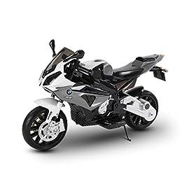 Moto Elettrica per Bambini BMW S1000 RR Blu 12V con Chiave e Ruote in Gomma