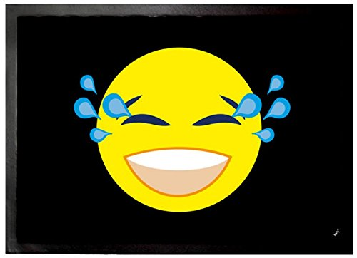 Emoticon - Emoji Smiley Con Gli Strappi Di Gioia Zerbino (70 x 50cm)