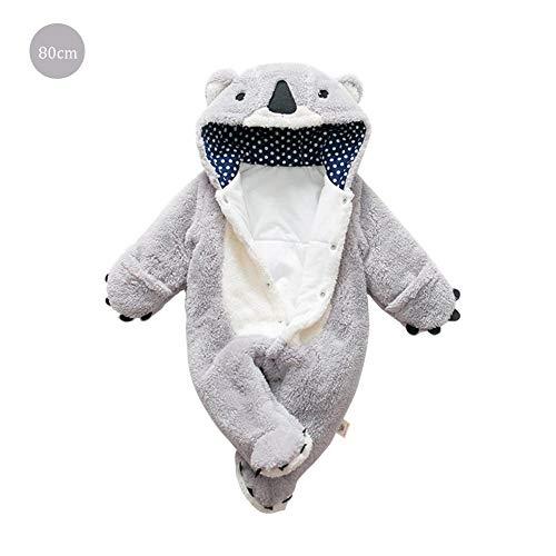 (Zay Infant Verdickter Schneeanzug Baby Bär Spielanzug Outfit Fleece Bunting Kinderwagen Anzug Winter Oberbekleidung Mantel Overall Overall Babykleidung 0-24 Mt)