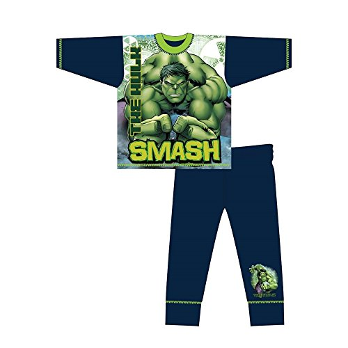 Marvel - Pijama de Manga Larga Infantil de Hulk y Texto...