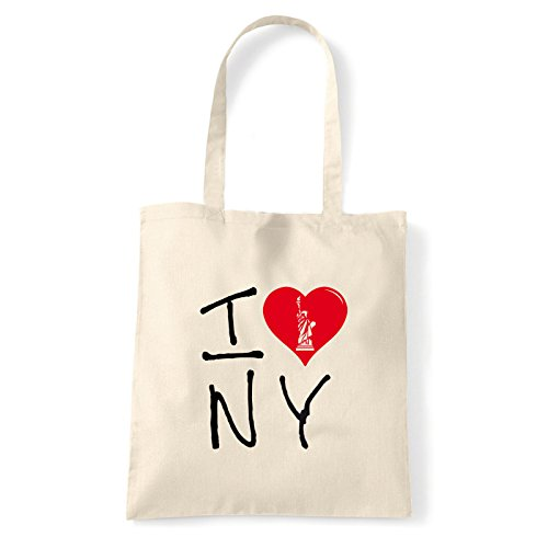 Art T-shirt, Borsa Shoulder I Love NY, Shopper, Mare Natural