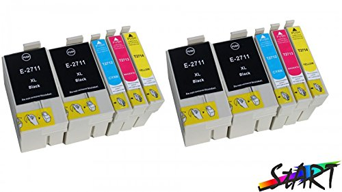 Preisvergleich Produktbild 10 Ersatz Chip Patronen kompatibel zu Epson 27XL, T2711XL, T2712XL, T2713XL, T2714XL