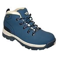 Ladies Trek Leather Upper Lightweight Fully Waterproof, Walking/Hiking/Trekking Winter Boot. (Navy) (5 UK)