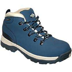 Botas de piel para mujer, ligeras, impermeables, ideales para caminar, senderismo o excursionismo, color azul, talla 39