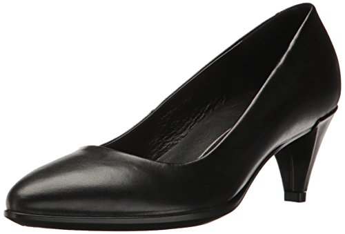 ECCO Damen SHAPE45POINTYSLEEK Pumps, Schwarz (Black 1001), 38 EU Black Leather Simple Pumps