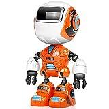 Womdee Robot Parlant avec détection de la tête et du Toucher, Corps en métal, lumières Clignotantes colorées, Sons froids, Robot, Jouet interactif pour garçons Filles Cadeau