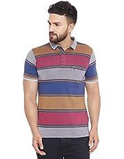 BlackBuck Men's Pure Cotton Regular Fit Half Sleeve Casual T-Shirt (XX-Large) Tan Purple
