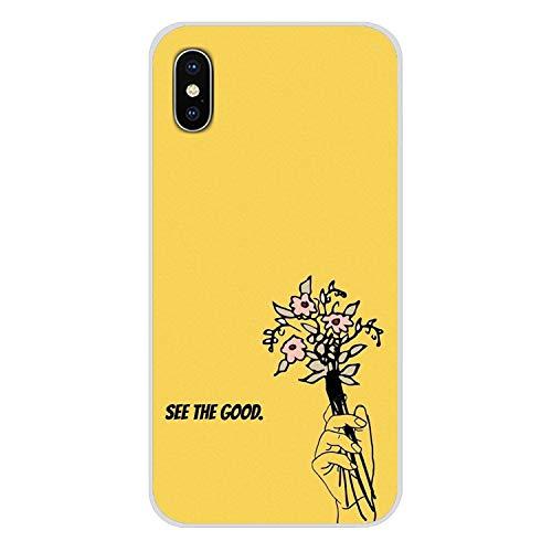 Handy-Shell-Fall Hippie Ästhetik gelb-Muster für iPhone X XR XS MAX 4 4S 5 5S 5C SE 6 6S 7 8 Plus ipod Touch 5 6-in Hälfte, Bilder 10, für iPhone 5 (Billige Lustige Iphone 4s Fällen)