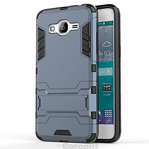 Galaxy J2 Prime Coque, Cocomii Iron Man Armor NEW [Heavy Duty] Premium Tactical Grip Kickstand Shockproof Hard Bumper Shell [Military Defender] Full Body Dual Layer Rugged Cover Case Étui Housse Samsung (Black)