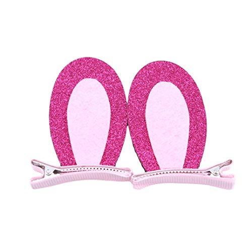 n Haarspange Lange Ohr Haarnadel Süße Nette Headwear Mädchen Mode Dekorative Haarschmuck Für Weibliche Frauen Damen Party Geschenk, Rose Red ()