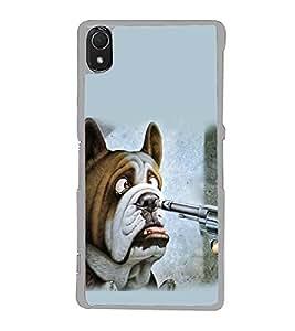 PrintVisa Horrifying Dog High Gloss Designer Back Case Cover for Sony Xperia Z3 :: Sony Xperia Z3 Dual :: Sony Xperia Z3 D6633