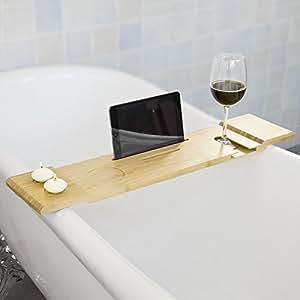 sobuy 70cm lang sch ne badewannenablage badewannenbrett badewannenauflage halterung. Black Bedroom Furniture Sets. Home Design Ideas