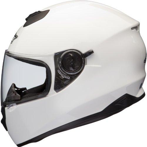 Shox assault casco da motociclismo, white, 55-56 cm (s)