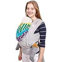 Madame Jordan Wrap Conversion Mei Tai 'Juniper' - Tragehilfe ab Geburt bis ca. 2 Jahre, Ergonomische Tragehilfe für Bauch, Rücken / Hüfte mit Gepolstertem Hüftgurt