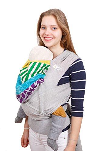 Madame Jordan Wrap Conversion Mei Tai 'Juniper' - Tragehilfe ab Geburt bis ca. 2 Jahre, Ergonomische Tragehilfe für Bauch, Rücken / Hüfte mit Gepolstertem Hüftgurt (Baumwolle Mischung Wrap)