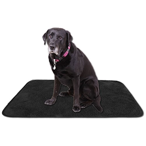 Tierdecke Lammflor Kuscheldecke Hundebett Katzendecke Auswahl: 70x100 cm Farbe: schwarz - jet black