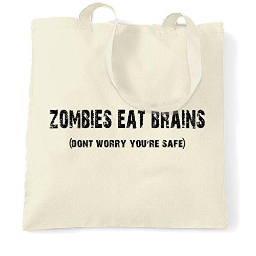 Halloween Tragetasche Zombies essen Gehirne du bist sicher Natural One Size