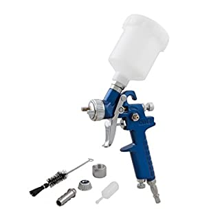 SPARES2GO Mini HVLP High Volume Low Pressure Cake Decorating Spray Paint Gun 0.8mm Nozzle (125ml)
