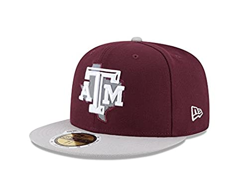 NCAA Texas A&M Aggies State Flective Redux 59FIFTY Fitted Cap, 7.5, Red