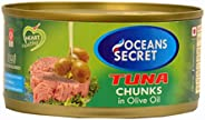 Oceans Secret - Tuna Chunks in Olive Oil (180 g) (Pack of 4) | Immunity Booster | Superfood