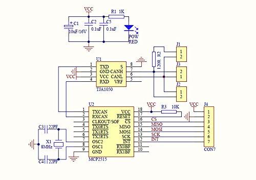 Haljia MCP2515 can bus modulo TJA1050 ricevitore SPI per
