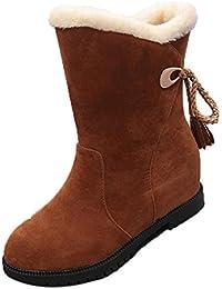Botines de nieve Botines de invierno Zapatos de mujer Tacones Botas de invierno Zapatos de moda por ESAILQ