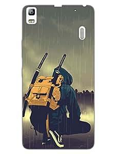 Lenovo A7000 Back Cover - Samurai Guy - Graffiti - Hard Back Shell Case