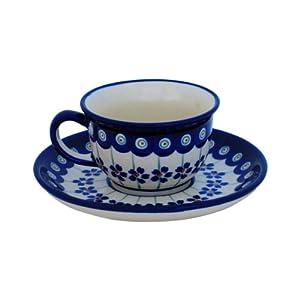 Boleslawiec Pottery Espresso Cup, 0.11 L, Original Bunzlauer Keramik, Decor 166a