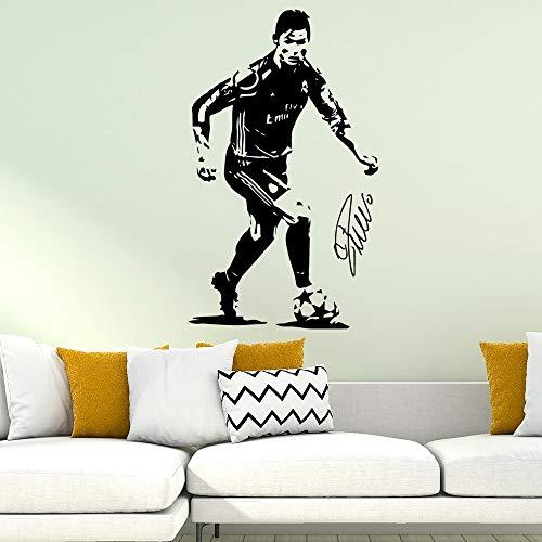 Personalisierte Ronaldo Fußball Real Madrid Vinyl Wandaufkleber Dekor Wohnzimmer Schlafzimmer Home Party Decor Aufkleber muraux 57x95 cm
