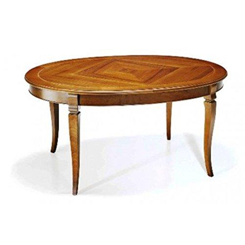 EsteaMobili - Table extensible ovale en bois massif – Comme sur les photos