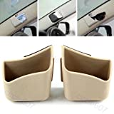#7: Delhitraderss -2 X Car Pillar Pocket Holder Box Cigarette Cellphone Sunglass Holder Beige for - Mahindra TUV 300