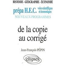 De la copie au corrigé (HEC)