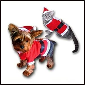 Costume Deguisement PERE NOEL Chien Chat Petite Taille Neuf
