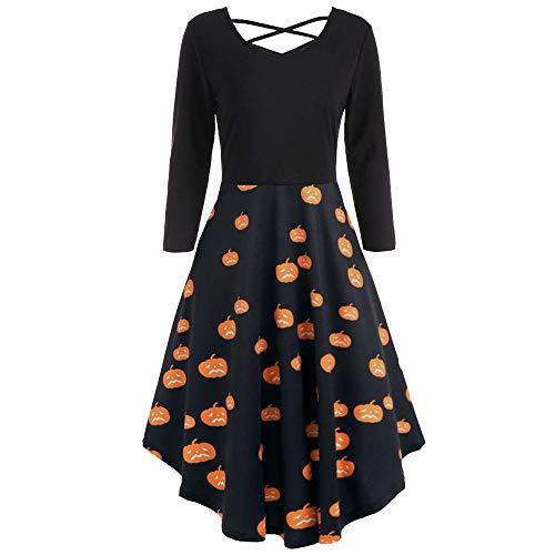 (IZHH Frauen Sleeveless Lässige Strandkleid Sommerkleid Tankkleid Ausgestelltes Tankkleid Knielange Kleider Herbst Winter 2018(T-Orange1,Large))